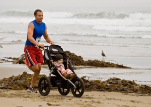man jogging with a trike